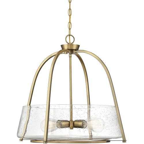 Savoy House 7-2181-4 4 Light Pendant - Transitionalstyle with Contemporary and Bohemian inspirations - 21 inches tall by 22 inches wide