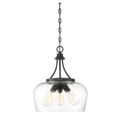 Savoy House 7-4034-3 3 Light Pendant - Transitionalstyle with Contemporary and Bohemian inspirations - 18 inches tall by 15 inches wide