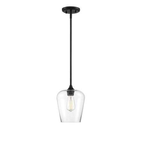 Savoy House 7-4036-1 1 Light Pendant - Contemporarystyle with Transitional and Bohemian inspirations - 10.5 inches tall by 8 inches wide