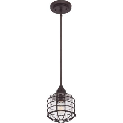 Savoy House 7-576-1 1 Light Mini-Pendant-Industrial Style with Transitional Inspirations-13.5 inches tall by 5.5 inches wide