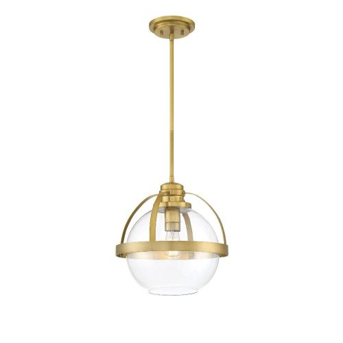 Savoy House 7-7201-1 1 Light Pendant-Mid-Century Modern Style with Contemporary and Transitional Inspirations-14 inches tall by 14 inches wide