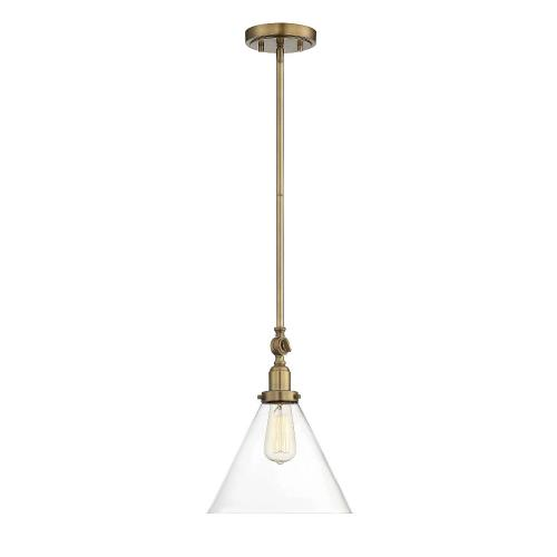 Savoy House 7-9132-1 1 Light Pendant - Vintagestyle with Industrial and Mid-Century Modern inspirations - 10.25 inches tall by 10 inches wide