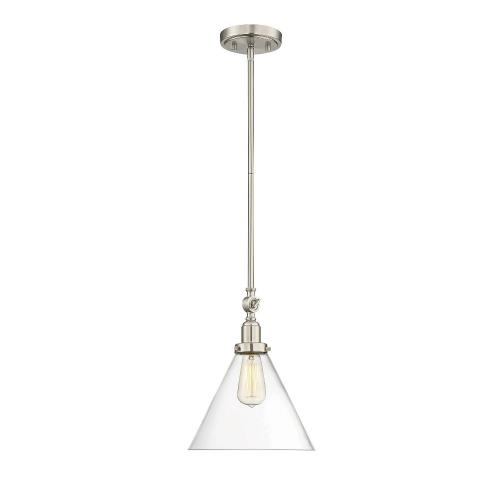 Savoy House 7-9132-1 1 Light Pendant-Vintage Style with Industrial and Mid-Century Modern Inspirations-10.25 inches tall by 10 inches wide