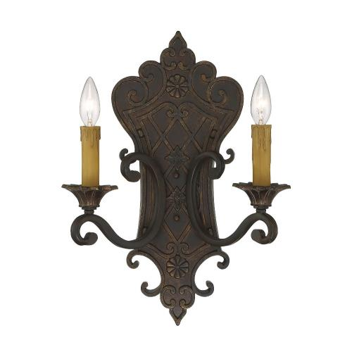 Savoy House 9-0159-2-76 2 Light Wall Sconce-Traditional Style with Country French and Shabby Chic Inspirations-19 inches tall by 13.5 inches wide