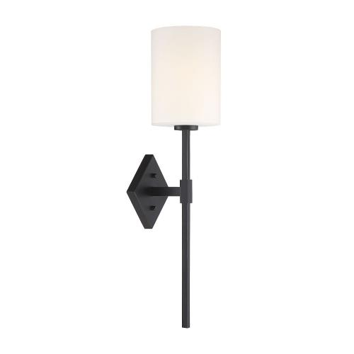 Savoy House 9-0902-1 1 Light Wall Sconce-Vintage Style with Mid-Century Modern and Transitional Inspirations-25 inches tall by 6 inches wide