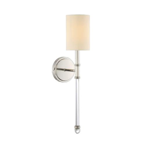 Savoy House 9-101-1 1 Light Wall Sconce-Traditional Style with Transitional and contemporary Inspirations-21 inches tall by 5 inches wide