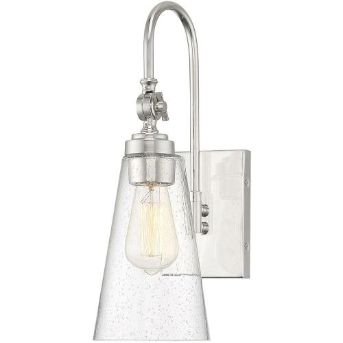 Savoy House 9-108-1 1 Light Wall Sconce-16 inches tall by 5.5 inches wide