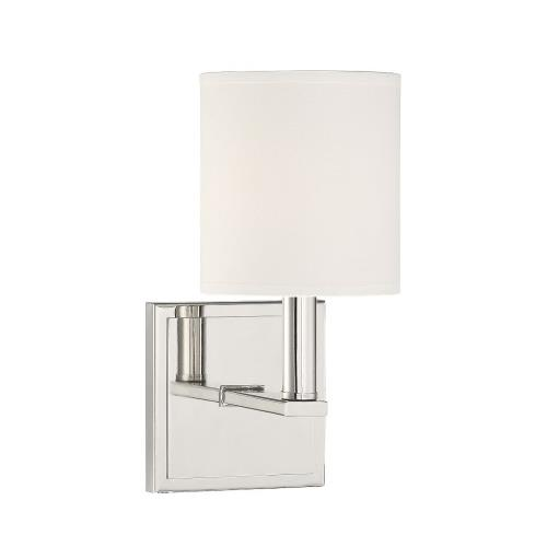 Savoy House 9-1200-1 1 Light Wall Sconce-Modern Style with Farmhouse and Transitional Inspirations-11 inches tall by 5 inches wide