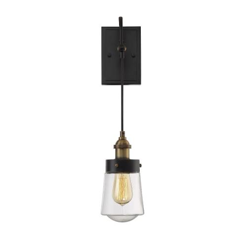 Savoy House 9-2065-1-51 1 Light Wall Sconce-Industrial Style with Vintage and Contemporary Inspirations-20 inches tall by 4.75 inches wide