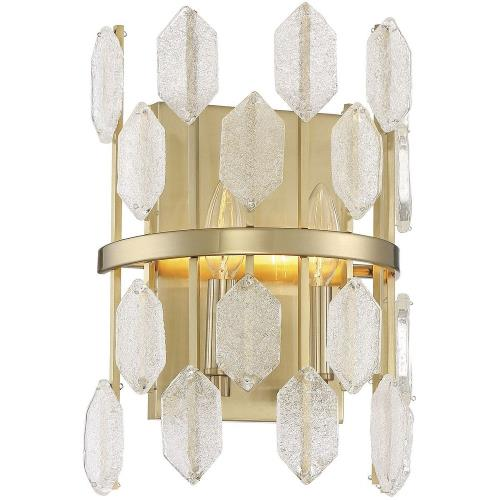 Savoy House 9-2162-2 2 Light Wall Sconce-Glam Style with Mid-Century Modern and Contemporary Inspirations-13.5 inches tall by 9 inches wide