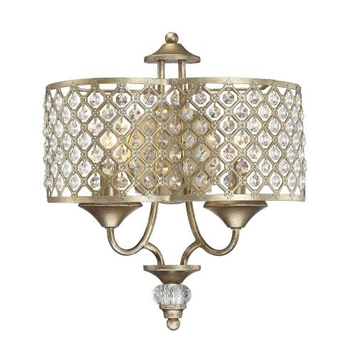 Savoy House 9-2403-2-98 2 Light Wall Sconce-Glam Style with Transitional and Bohemian Inspirations-14.5 inches tall by 13 inches wide