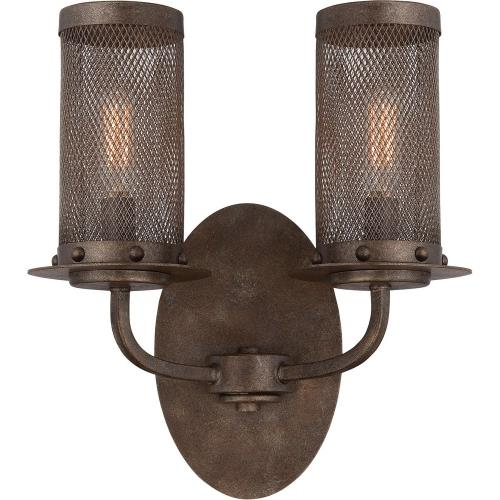 Savoy House 9-2505-2 2 Light Wall Sconce-Industrial Style with Farmhouse and Rustic Inspirations-12.5 inches tall by 10.34 inches wide