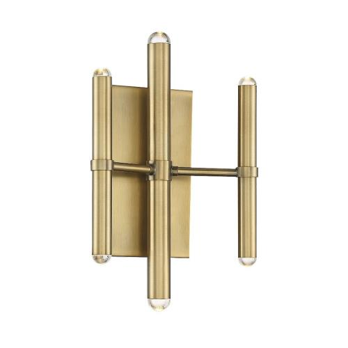 Savoy House 9-2602-6-322 12W 6 LED Wall Sconce-Modern Style with Contemporary and Scandinavian Inspirations-9.5 inches tall by 5.25 inches wide