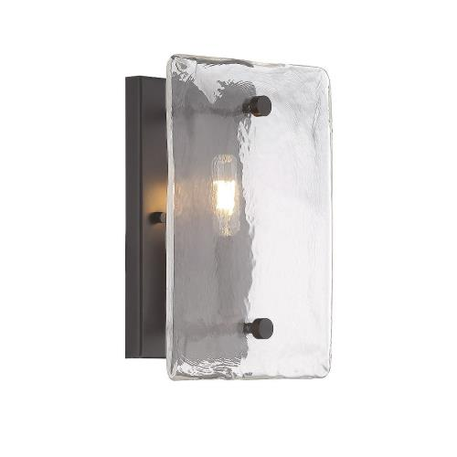 Savoy House 9-3045-1-13 1 Light Wall Sconce-Rustic Style with Transitional and Industrial Inspirations-11 inches tall by 8 inches wide