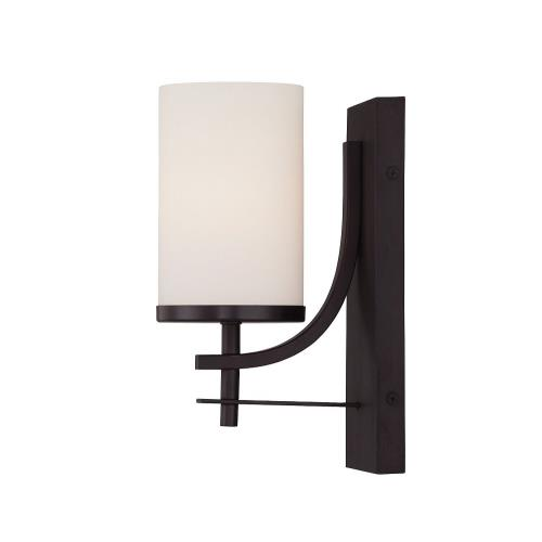 Savoy House 9-337-1 1 Light Wall Sconce-Industrial Style with Transitional Inspirations-10 inches tall by 4.75 inches wide