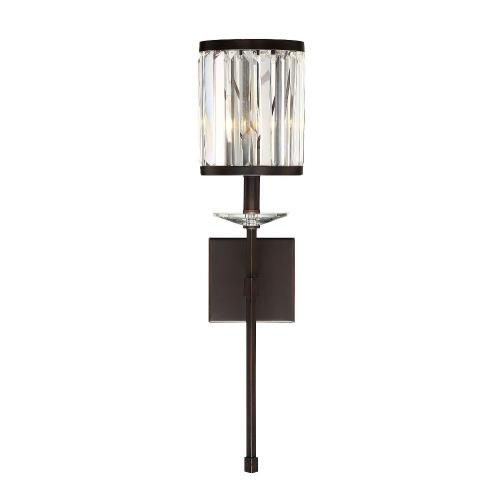 Savoy House 9-400-1 1 Light Wall Sconce-Glam Style with Contemporary and Transitional Inspirations-26 inches tall by 6.5 inches wide