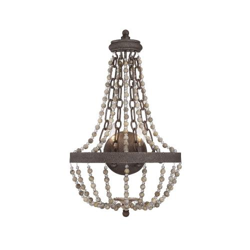 Savoy House 9-7407-2-39 2 Light Wall Sconce-Traditional Style with Country French and Farmhouse Inspirations-23 inches tall by 14 inches wide