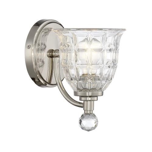 Savoy House 9-880-1-109 1 Light Wall Sconce - Glamstyle with Transitional and Traditional inspirations - 8.5 inches tall by 6 inches wide