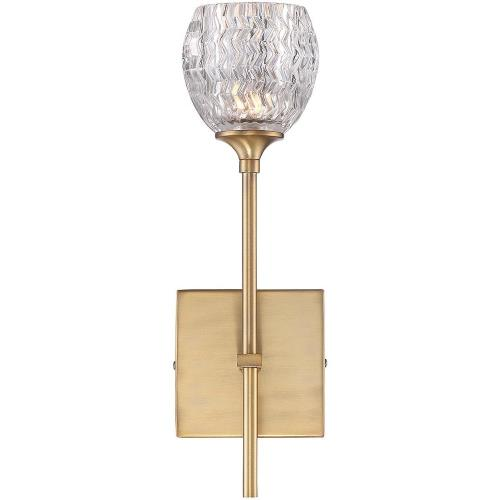 Savoy House 9-9103-1 1 Light Wall Sconce-Glam Style with Transitional and Contemporary Inspirations-15.13 inches tall by 4.5 inches wide