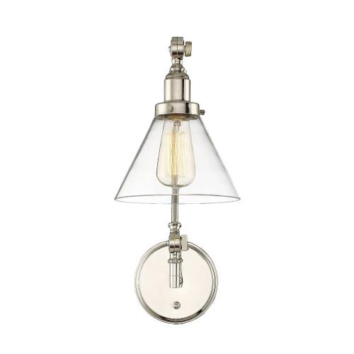 Savoy House 9-9131CP-1 1 Light Adjustable Wall Sconce-Traditional Style with Transitional and Industrial Inspirations-17.5 inches tall by 7.5 inches wide
