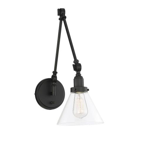 Savoy House 9-9131CP-1 1 Light Adjustable Wall Sconce - Traditionalstyle with Transitional and Industrial inspirations - 17.5 inches tall by 7.5 inches wide