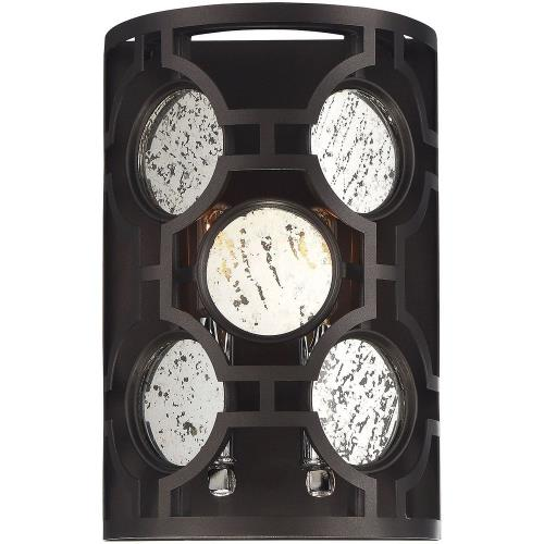 Savoy House 9-9220-2 2 Light Wall Sconce-Glam Style with Contemporary and Transitional Inspirations-12 inches tall by 8 inches wide