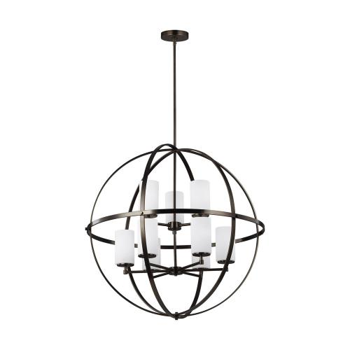 Sea Gull Lighting 3124609-778 Alturas - Nine Light 2-Tier Chandelier