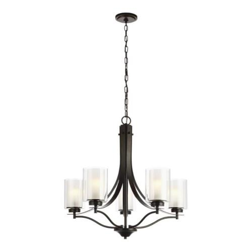 Sea Gull Lighting 3137305EN3 Elmwood Park - 26 inch 46.5W 5 LED Chandelier