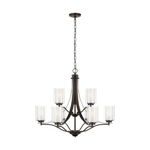 Sea Gull Lighting 3137309 Elmwood Park - 32 Inch 9 Light Chandelier