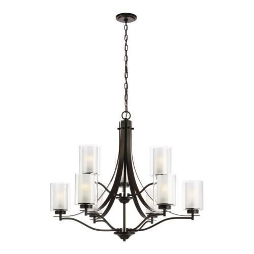 Sea Gull Lighting 3137309EN3 Elmwood Park - 32 inch 83.7W 9 LED Chandelier