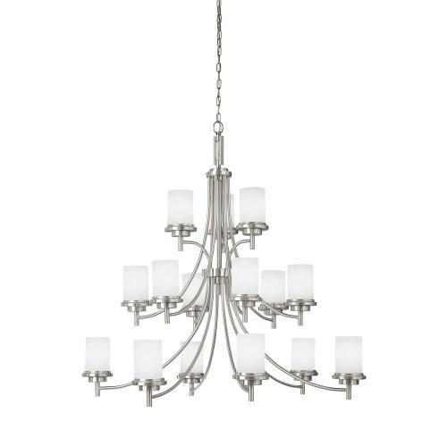 Sea Gull Lighting 31663EN3 Winnetka - Fifteen Light 3-Tier Chandelier