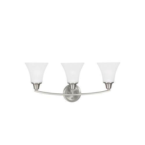 Sea Gull Lighting 44132 Metcalf - Three Light Wall/Bath Sconce
