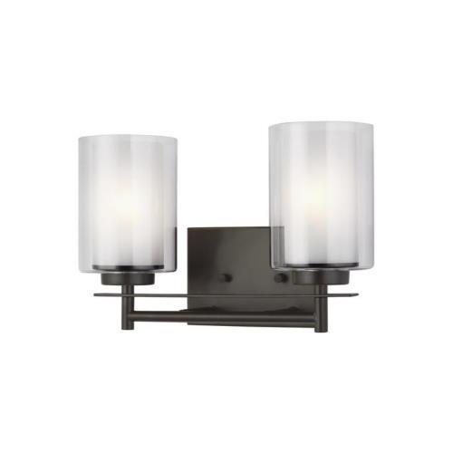 Sea Gull Lighting 4437302EN3 Elmwood Park - 13.25 inch 18.6W 2 LED Bath Vanity