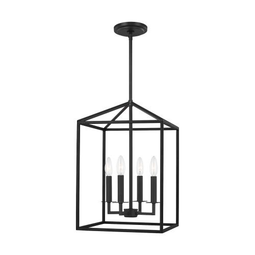 Sea Gull Lighting 5215004 Perryton - 4 Light Small Hall Foyer in Transitional Style - 12.25 inches wide by 18.5 inches high