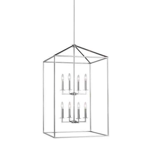 Sea Gull Lighting 5315008 Perryton - 8 Light Extra Large Hall Foyer in Transitional Style - 22 inches wide by 38 inches high