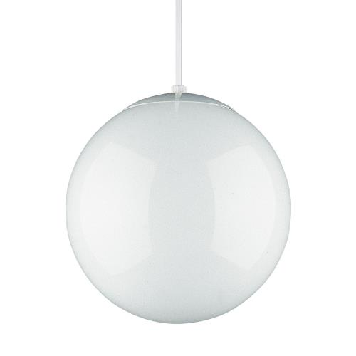 Sea Gull Lighting 6024-15 14 Inch Glass Globe Pendant in Contemporary Style - 14 inches wide by 14.75 inches high