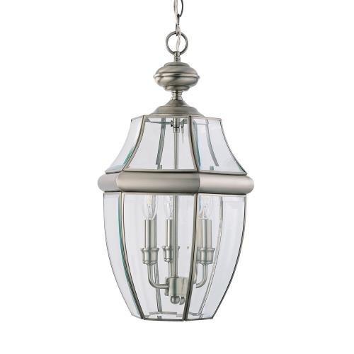 Sea Gull Lighting 6039-965 Lancaster - Three Light Outdoor Pendant in Traditional Style - 12 inches wide by 20.75 inches high