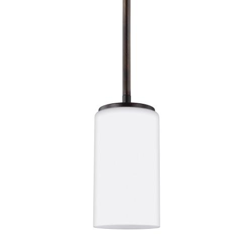 Sea Gull Lighting 6124601 Alturas - 100W One Light Mini-Pendant in Transitional Style - 3.5 inches wide by 7.19 inches high