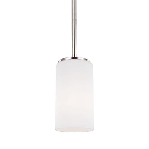 Sea Gull Lighting 6124601 Alturas 1-Light Mini-Pendant in Transitional Style - 3.5 inches wide by 7.19 inches high