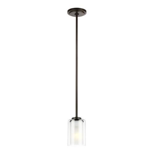 Sea Gull Lighting 6137301EN3 Elmwood Park - 6.88 inch 9.3W 1 LED Mini Pendant