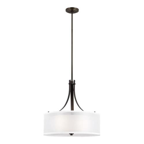 Sea Gull Lighting 6537303 Elmwood Park - 3 Light Pendant in Traditional Style - 19 inches wide by 18 inches high