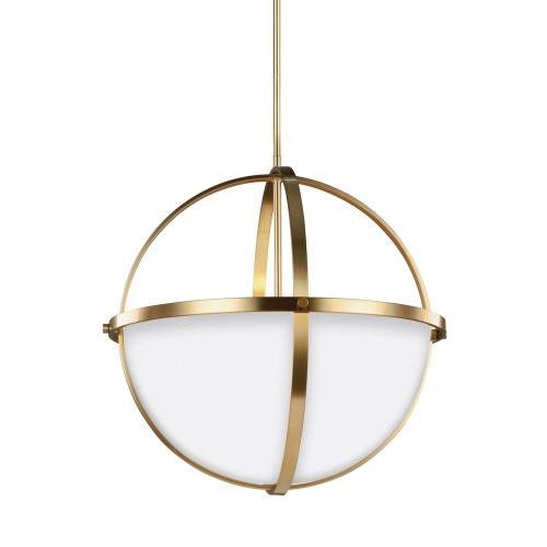 Sea Gull Lighting 6624603-848 Alturas - 100W Three Light Pendant in Contemporary Style - 19 inches wide by 18.75 inches high