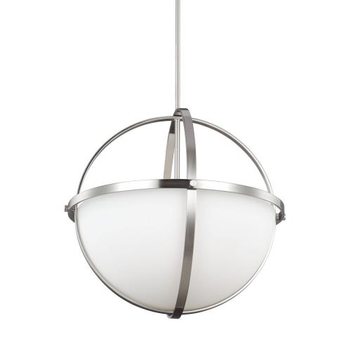 Sea Gull Lighting 6624603 Alturas 3-Light Pendant in Contemporary Style - 19 inches wide by 18.75 inches high