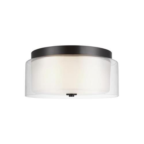 Sea Gull Lighting 7537302EN3 Elmwood Park - 14 inch 18.6W 2 LED Flush Mount