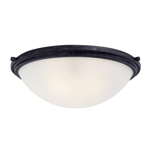 Sea Gull Lighting 75662 Winnetka  3 Light Ceiling Flush Mount Steel