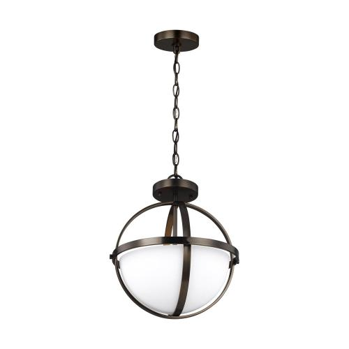 Sea Gull Lighting 7724602-778 Alturas - Two Light Convertible Pendant in Contemporary Style - 14 inches wide by 16.38 inches high