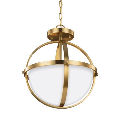 Sea Gull Lighting 7724602-848 Alturas - 60W Two Light Convertible Pendant in Contemporary Style - 14 inches wide by 16.38 inches high