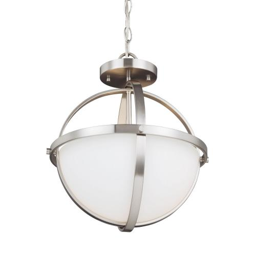 Sea Gull Lighting 7724602 Alturas - Two Light Convertible Pendant in Contemporary Style - 14 inches wide by 16.38 inches high