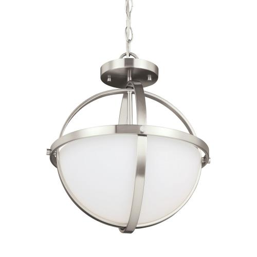 Sea Gull Lighting 7724602EN3 Alturas - Two Light Convertible Pendant in Contemporary Style - 14 inches wide by 16.38 inches high