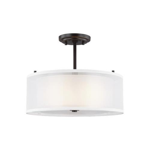 Sea Gull Lighting 7737302EN3 Elmwood Park - 15 inch 18.6W 2 LED Semi-Flush Mount